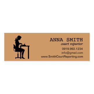 Secretaria del mecanógrafo del reportero de corte  plantillas de tarjetas personales