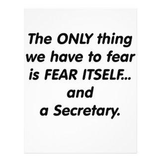 Secretaria del miedo flyer a todo color