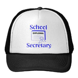 Secretaria Hat de la escuela Gorro De Camionero
