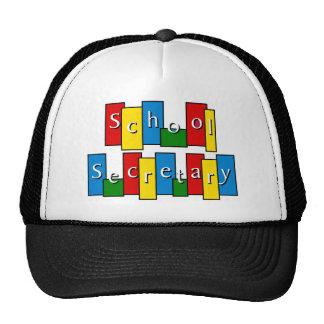 Secretaria Hat de la escuela Gorros