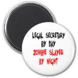 Secretaria legal del asesino del zombi imán para frigorífico