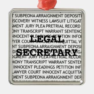 Secretaria legal navidad adorno navideño cuadrado de metal