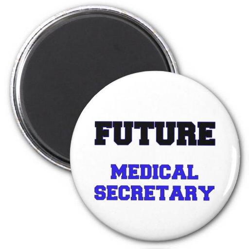 Secretaria médica futura imán para frigorífico