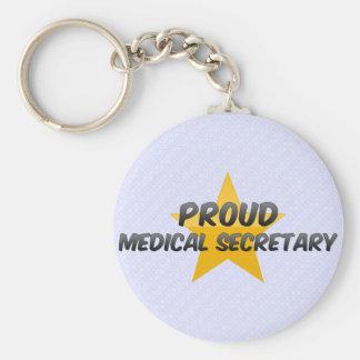 Secretaria médica orgullosa llaveros personalizados