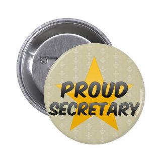 Secretaria orgullosa pin