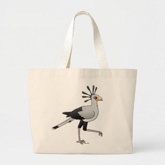 Secretaria pájaro bolsa tela grande