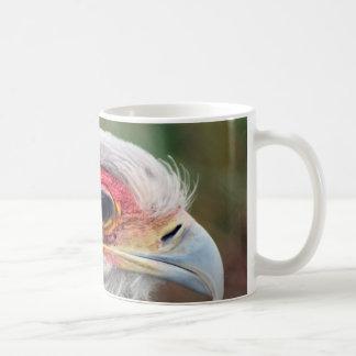 Secretaria pájaro de Suráfrica Taza Básica Blanca