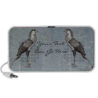 Secretaria pájaro del vintage iPhone altavoz