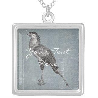 Secretaria pájaro del vintage colgante cuadrado