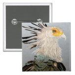 Secretaria pájaro pin