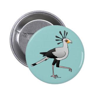 Secretaria pájaro pins