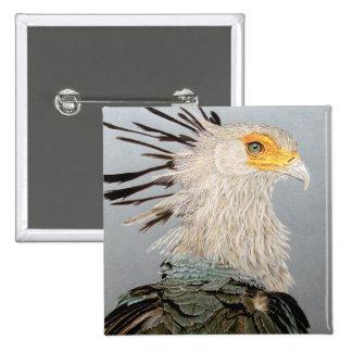 Secretaria pájaro pin cuadrado