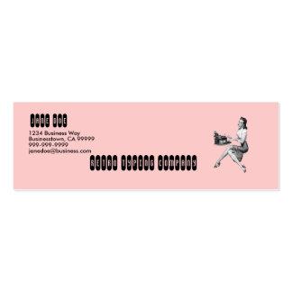 Secretaria retra tarjetas de visita mini
