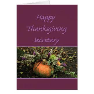 Secretaria Thanksgiving Card Felicitaciones