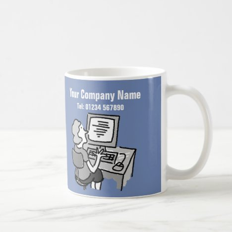 Secretarial Services Cartoon Mug