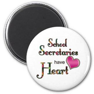 Secretarias Have Heart de la escuela Imanes De Nevera