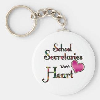 Secretarias Have Heart de la escuela Llaveros