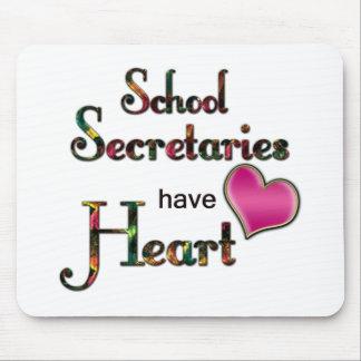 Secretarias Have Heart de la escuela Tapete De Ratón