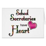 Secretarias Have Heart de la escuela Tarjeta