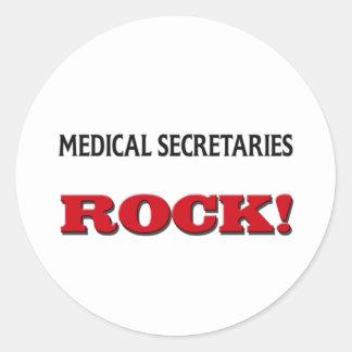 Secretarias médicas Rock Etiquetas Redondas