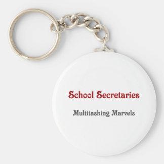Secretarias Multitasking Marvels de la escuela Llavero Redondo Tipo Pin