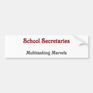 Secretarias Multitasking Marvels de la escuela Pegatina Para Auto