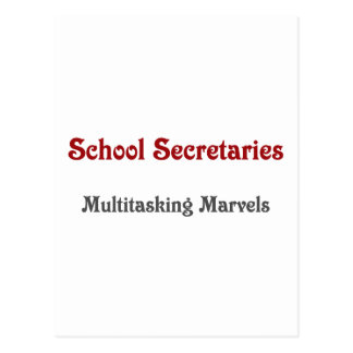 Secretarias Multitasking Marvels de la escuela Tarjeta Postal