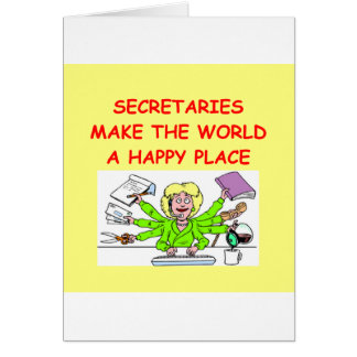 secretaries card