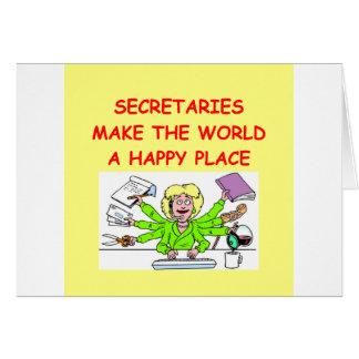 secretaries greeting card