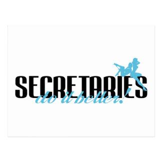 Secretaries Do It Better! Postcard