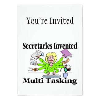 Secretaries Invented Multi Tasking 5x7 Paper Invitation Card