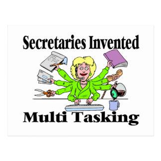 Secretaries Invented Multi Tasking Postcard