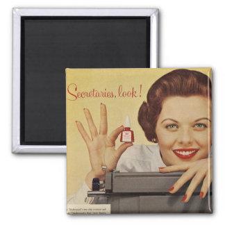 Secretaries Look Vintage Advert Magnet