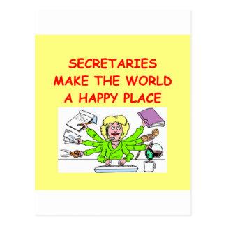 secretaries postcard