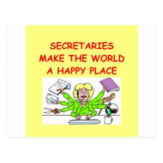 secretaries post cards