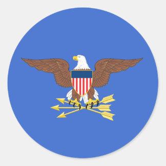 Secretario de Defensa de Estados Unidos Pegatina Redonda