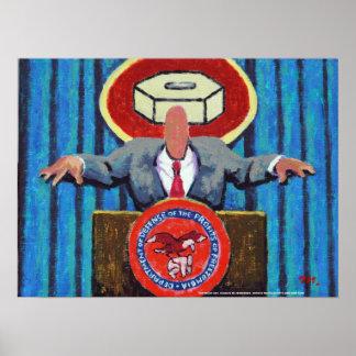 Secretario de Defensa del poster de Zomblandia