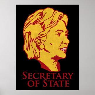 Secretario de Estado de Hillary Clinton el poster