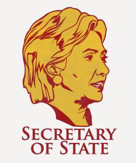 Secretario de Estado de Hillary Clinton Remeras