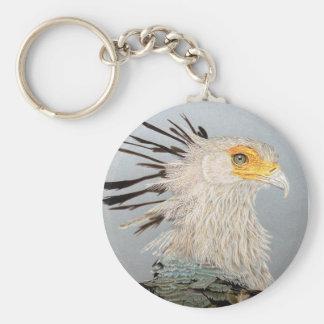 Secretary Bird Basic Round Button Keychain
