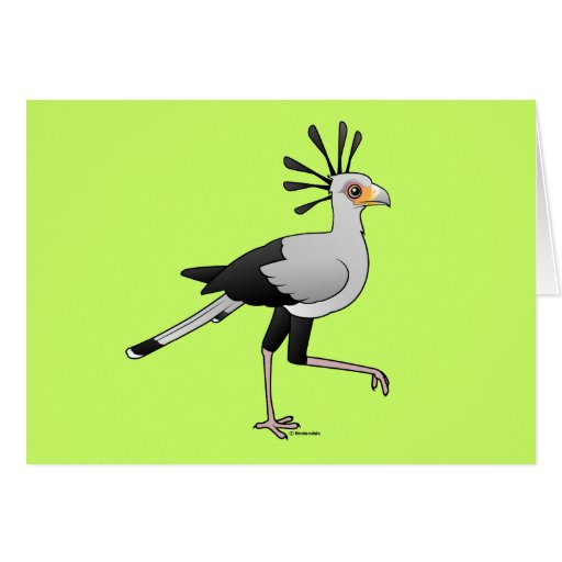Secretary Bird Greeting Cards