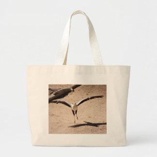Secretary bird large tote bag