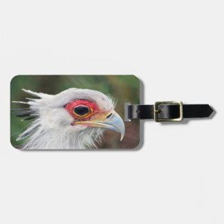 Secretary Bird of South Africa Travel Bag Tags