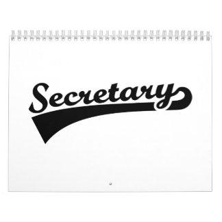 Secretary Calendar