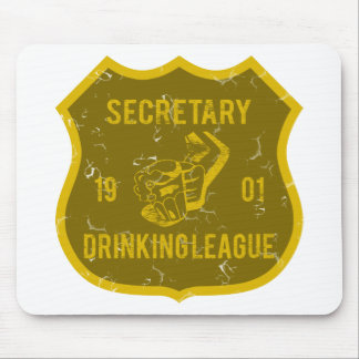 Secretary Drinking League Mouse Pad