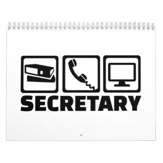 Secretary equipment calendar