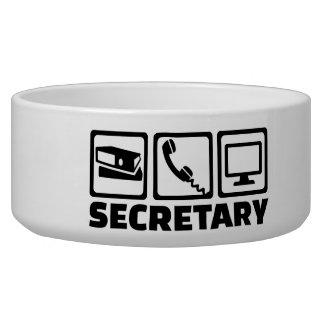 Secretary equipment dog food bowl