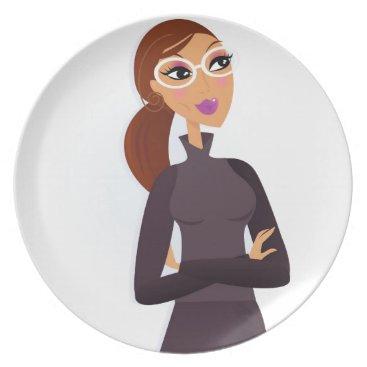 Professional Business Secretary grey Original design : Tshirts Melamine Plate