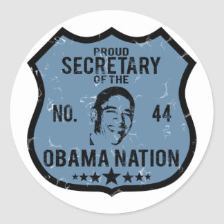 Secretary Obama Nation Classic Round Sticker