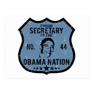 Secretary Obama Nation Postcard